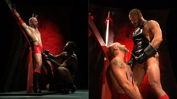 Wilfried Knight and Aymeric DeVille get rubbered up and down 'n dirty