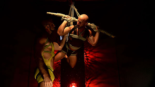 Muscle threesome in Francois Sagat's Incubus