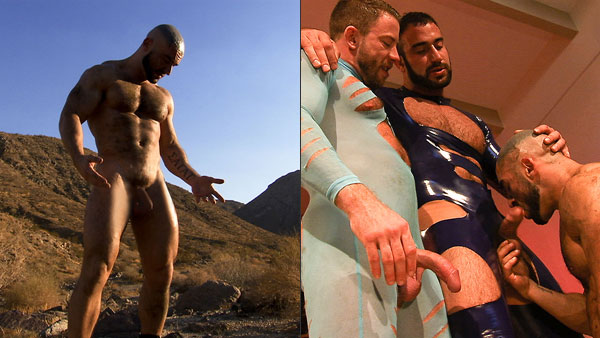 Francois Sagat fucked and pissed over