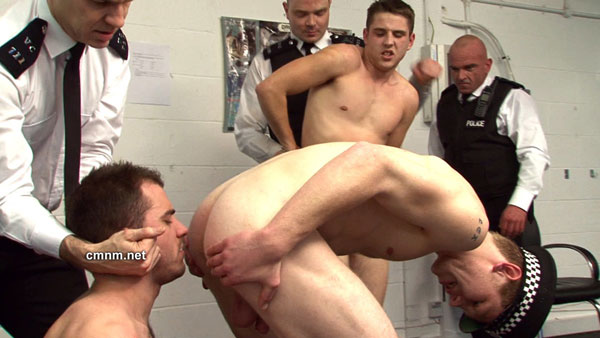 Straight boys stripped by uniformed officers