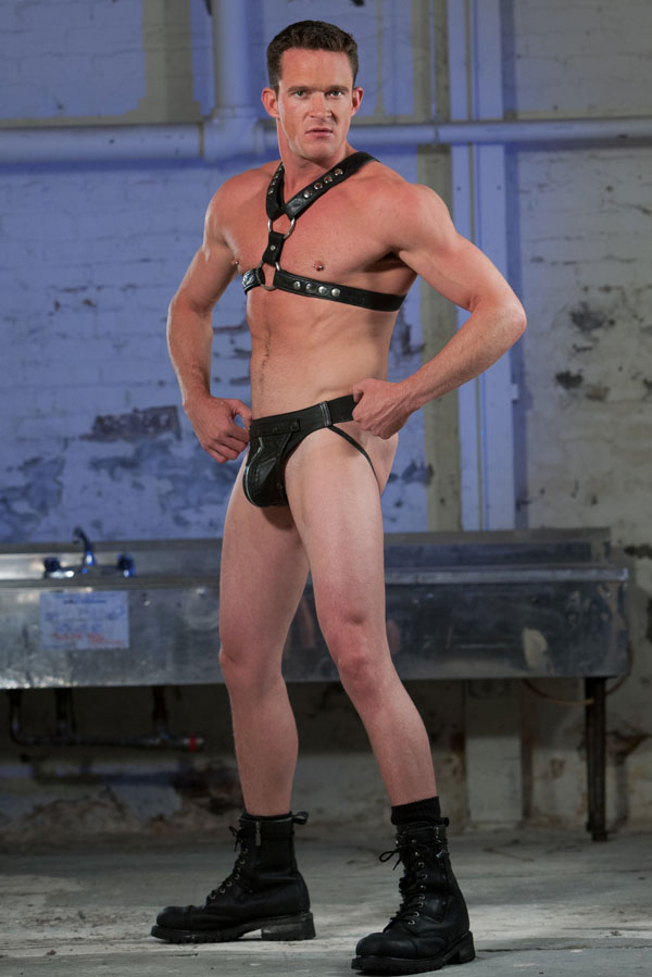 Jackson Lawless in leather