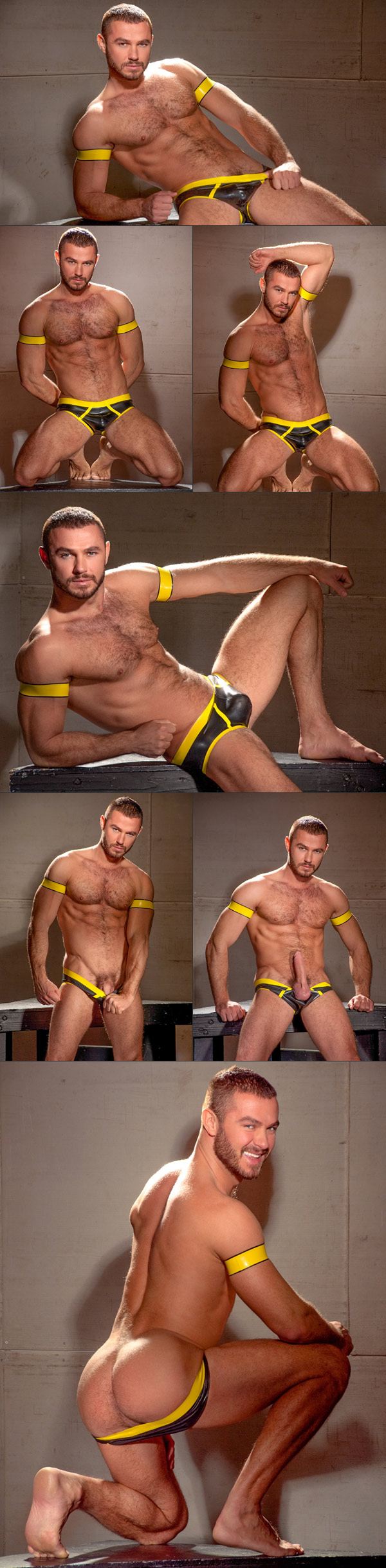 Pictures of Jessy Ares getting rubbered up in Slick