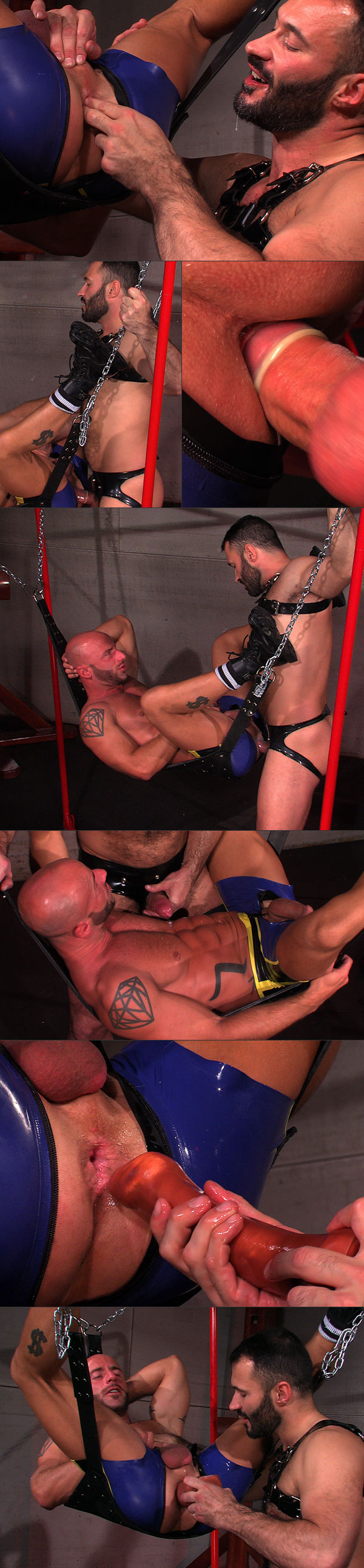 Aymeric Porn aymeric deville paddled in rubber - guys in gear